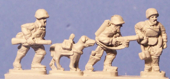 Anti-tank dog teams are made by Peter Pig, in their engineer pack.  Mike.