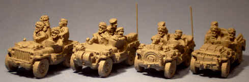 15mm WW2 miniatures - jeeps