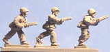 15mm WW2 US figures - USMC advancing