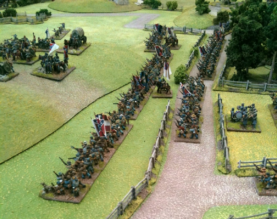 15mm ACW figures - Confederates firing